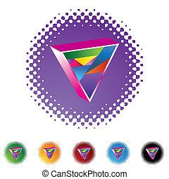 triángulo, alegre