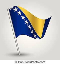 triángulo, bosna, simple, bosnio, símbolo, herzegovina, -, ...
