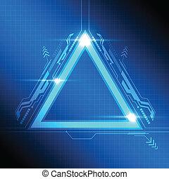 triángulo, marco, moderno, diseño