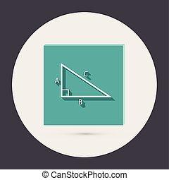 triángulo, math.