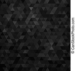 triángulo, patrón, resumen, vector, fondo negro, geométrico...