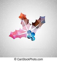 triángulo, tela, excepcional, concepto, arte,  vector, plano, móvil, medios, Extracto, imagen, aislado, objeto, creativo, contenido, Plano de fondo, plantilla,  social,  origami, silueta, diseño