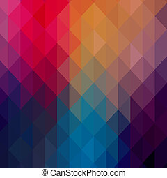 triángulos, patrón, de, geométrico, shapes., colorido, mosaico, telón de fondo., geométrico, hipster, retro, plano de fondo, lugar, su, texto, en, el, cima, de, it., retro, triángulo, fondo., fondo