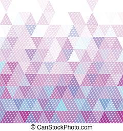 triángulos, patrón