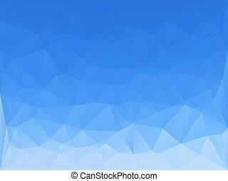 triángulos, resumen, plano de fondo, -, claro, cielo azul, -, vector