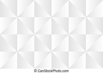 triángulos, simple, resumen, grayscale, patrón, vector,...