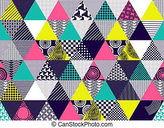 triángulos,  Textured,  seamless, Plano de fondo, multicolor