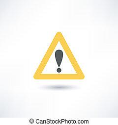 triângulo aviso, ícone