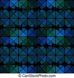 triângulo azul, textura, seamless, padrão, fundo