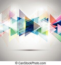 triângulos, abstratos