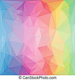 triângulos, estilo, abstratos, fundo, triangular