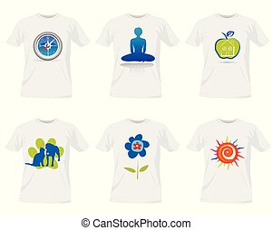 tričko, šablona, design