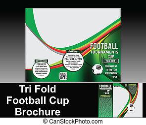 tri, 折り目, フットボール, デザイン, パンフレット