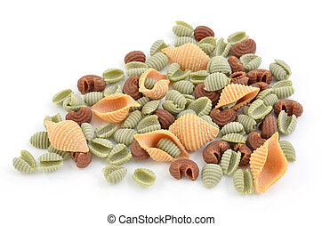 Tri-color pasta shells