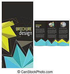 tri-fold, デザイン, テンプレート