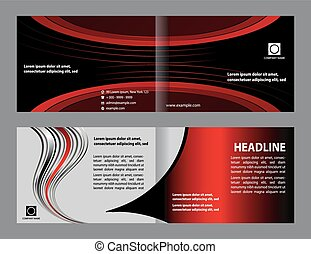 vector tri fold futuristic style brochure layout design template