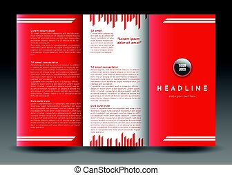Tri-fold brochure template design. Corporate booklet.
