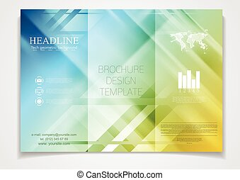 Tri-fold brochure vector design template - Tri-fold brochure...