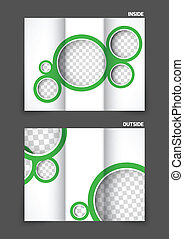 Tri-fold brochure with circles for golf club tournament design
