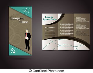 Tri-fold business brochure template with information