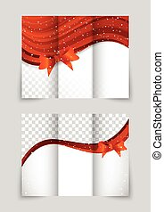 Tri-fold christmas brochure - Tri-fold christmas gift...