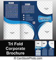 Tri Fold Corporate Brochure vector illustration
