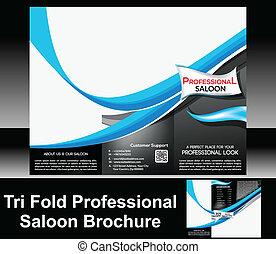 Tri Fold Professional Saloon