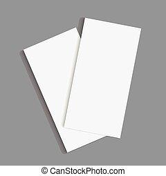 tri, pliegue, folleto, design.