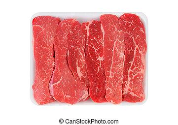 tri-tip, biefstuk, stroken