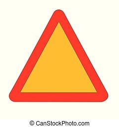 triabgle, vuoto, segnale stradale