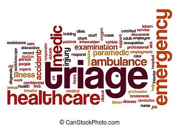 Triage word cloud concept