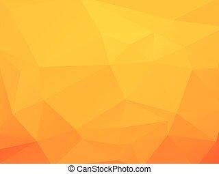 triagles, fond jaune