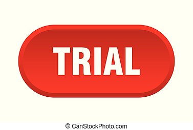 trial button. trial rounded red sign. trial