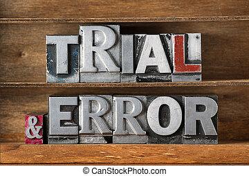 trial & error tray