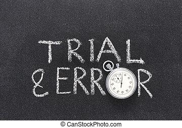 trial & error watch