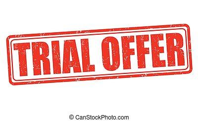 Trial offer stamp