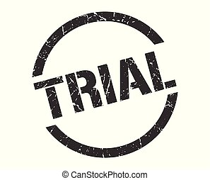 trial stamp - trial black round stamp