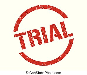 trial stamp - trial red round stamp