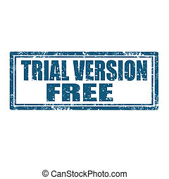 Trial Version Free-stamp - Grunge rubber stamp with text...