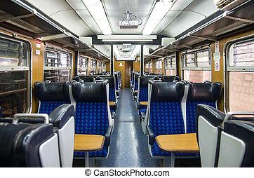 trian cabin interior