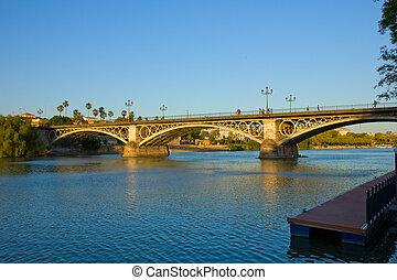 Triana Bridge, Seville, Spain - Triana Bridge, the oldest ...