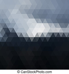 triangel, bildpunkt, mosaik, digital