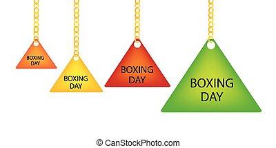 triangel, kedja, boxning, etikett, holdingen, dag, goldenl