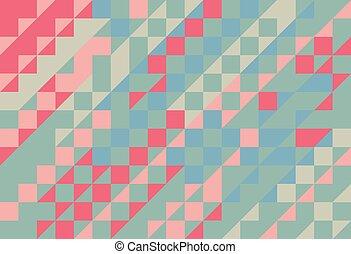 triangel, vektor, mosaik, abstrakt