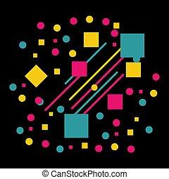 trianglar, abstrakt, fodrar, cirklarna, vektor, bakgrund, geometrisk