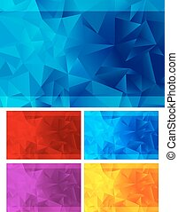 Triangle Abstract Backgrounds - Interposing triangle's...