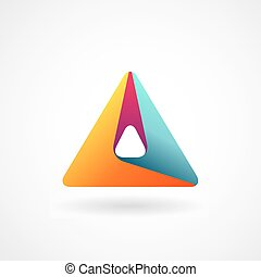 Triangle abstract logo.