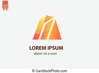 Triangle abstract logo template.