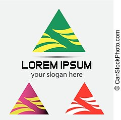 Triangle Abstract Logo vector icon
