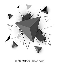 Triangle abstract on white background